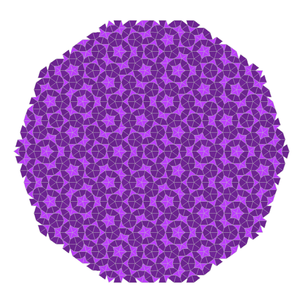 Kites and Darts: the Penrose Tiling