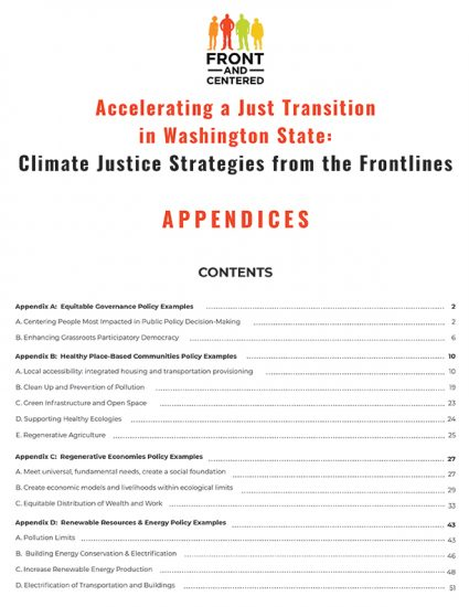 Appendices - Accelerating a Just Transition in Washington State