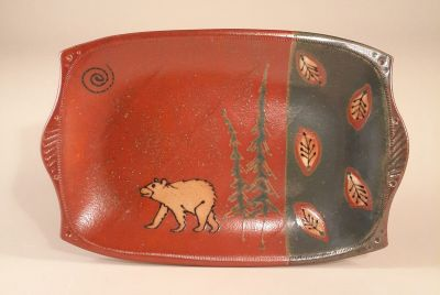 Bear Motif in Green