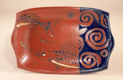 Fish Motif in Blue
