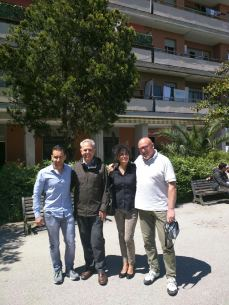 All'Hotel House ci sono i candidati M5S Alessandro Parisi, Sauro Pigini, Maria Elisa Sforza, Leandro Scocco.