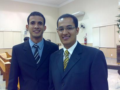Douglas Pinheiro, líder de Jovens no Espírito Santo e Cristian Mesquita