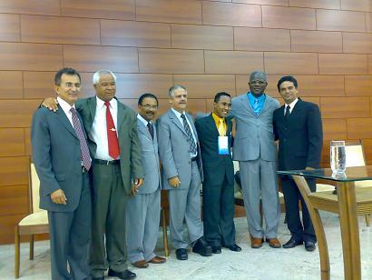 Da esquerda para a direita: pastores Mesquita, Jorvali, Valcir, Jamiel, presbítero Átila, pastor Joselito e evangelista Renato
