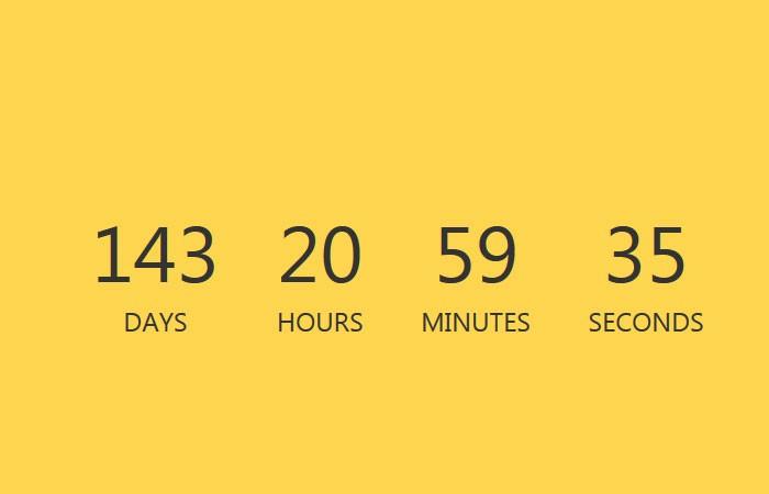 Javascript Simple Countdown Timer - ysCountDown js