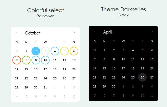 Javascript Calendar.Pure Javascript Calendar Library Jscalendar