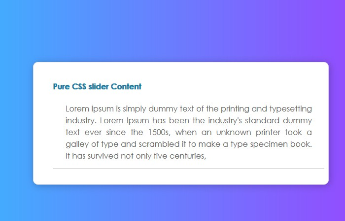 Pure CSS Text Slider to Slide Content - TextSlider.css