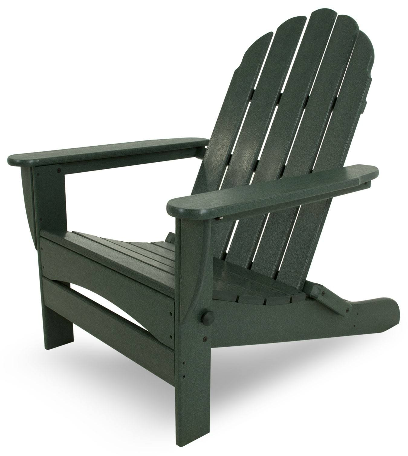 Oversized Patio Chairs Polywood Classic Oversized Curveback Folding Adirondack