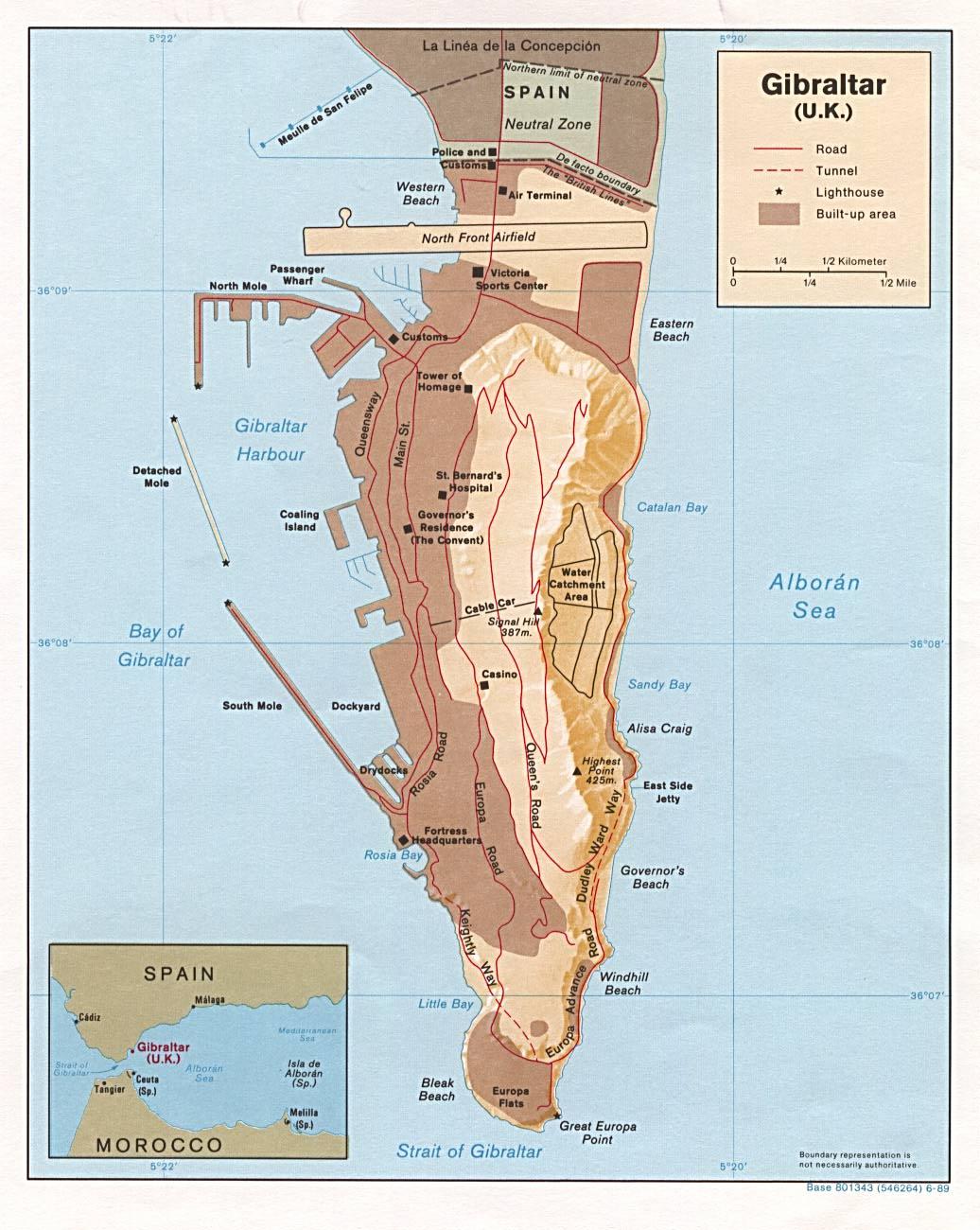 Mapa de Gibraltar (Click para ampliar)