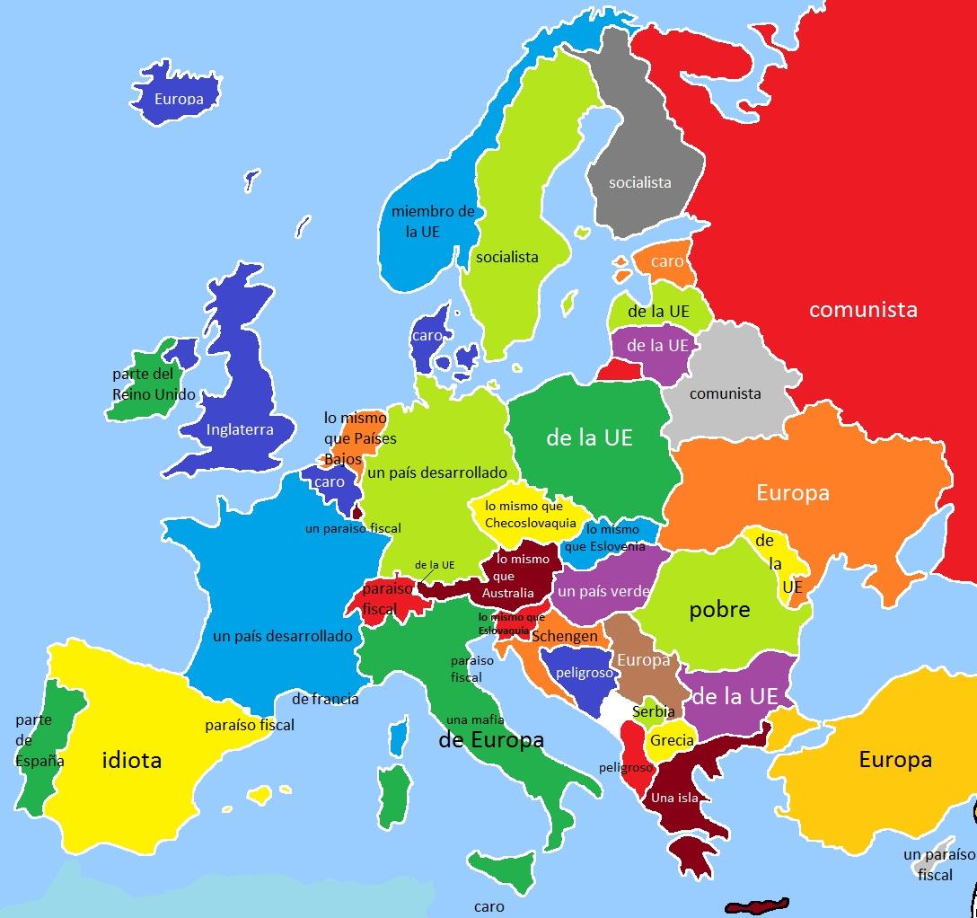 Mapa De Holanda En Europa