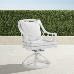 Revolving Chair Hsn Code Chiavari Caps Wholesale Outdoor Swivel Frontgate Avery Dining With Cushions In White Special Order