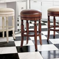 "Olivia Swivel Backless Bar Height Bar Stool (30""H seat"