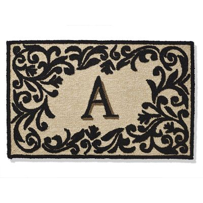 monogrammed entry mat