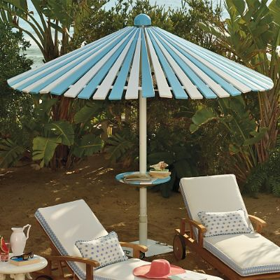 Balmoral Umbrella with Table and Base  Frontgate