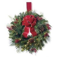 Christmas Cheer Window Wreath | Frontgate