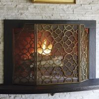 Mesh Fireplace Screen - Frontgate