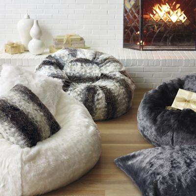 Luxe Faux Fur Bean Bag Chair  Frontgate