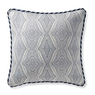 Navy Outdoor Pillow  Frontgate