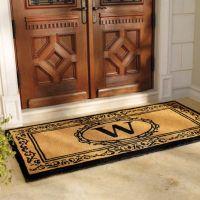 Hudson Monogrammed Door Mat | Frontgate