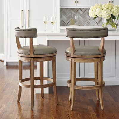 Henning Low Back Bar and Counter Stools