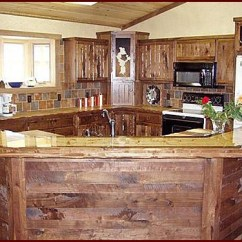 Hickory Cabinets Kitchen Sink Parts Handmade Solid Wood Rustic Style Cabinetry | Minnesota ...