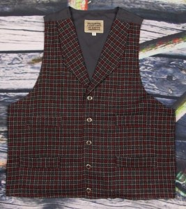 Burgundy/Gray plaid #1522