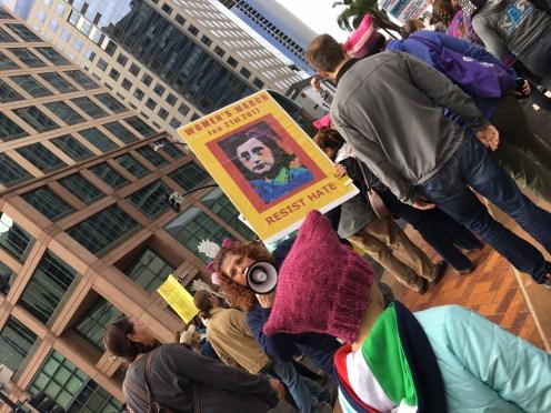 La marcia delle donne a San Diego [Clarissa Clò]