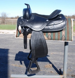 Draft Horse Saddle # 4024 - Black