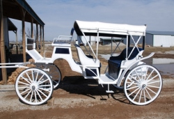 Roberts Carriages Voiture vis-a-vis Wedding Carriage