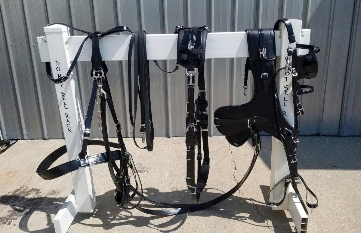 Deluxe Model Sport Harness With Brollar Collar Cob Horse