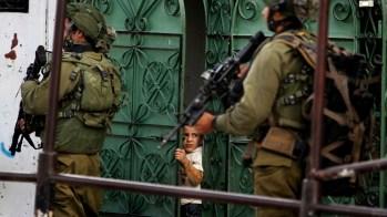 Enfant Palestinien effrayée