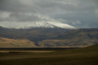 Snow capped mountains at Thormork
