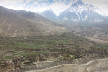 Flight back from Lo Manthang to Jonson