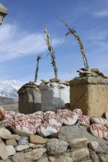 Sacred chortens in Lo Manthang