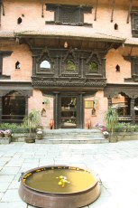 Dwarika's Hotel courtyard a tribute to Nepali handicrafts