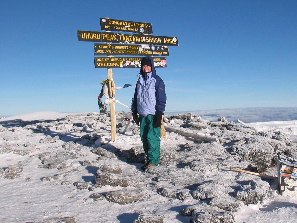 A Dream Come True -- from the Summit of Mt. Kilimanjaro