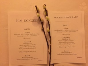 The Menu From My Dinner With the King