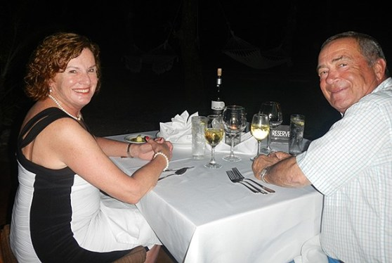 Two of our wonderful clients enjoying their last night at Zancudo!