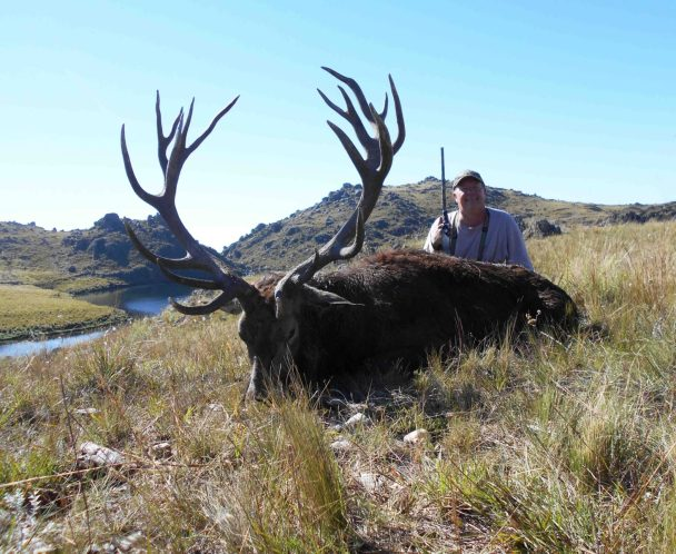 """Bob H. with a heavy 331"""" stag"""