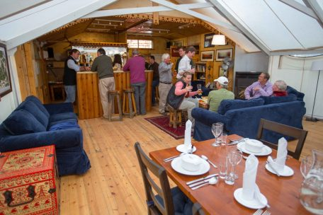 The convivial atmosphere of The Big Tent