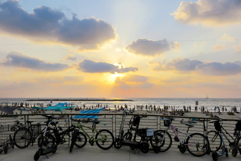 tramonto a tel aviv