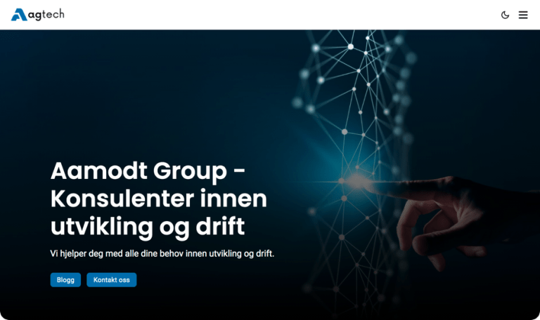 Screenshot of Aamodt Group website