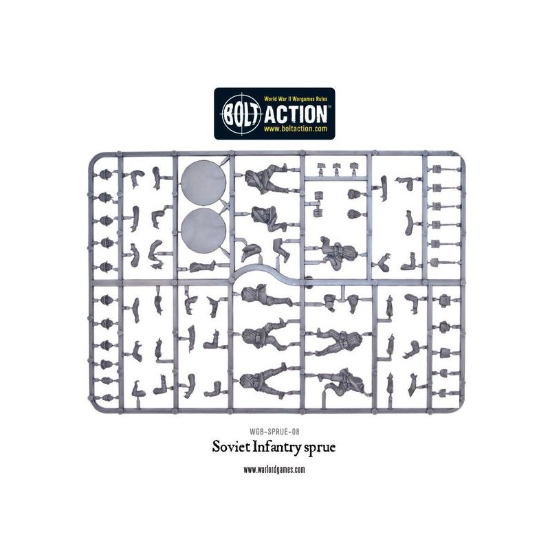 Russian Soviet Infantry sprue 28mm WWII WARLORD GAMES