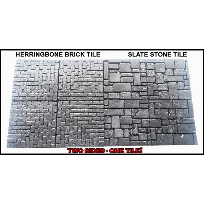 herringbone brick slate stone stones 20 dungeon 2 x2 double side dungeon tiles frontline games