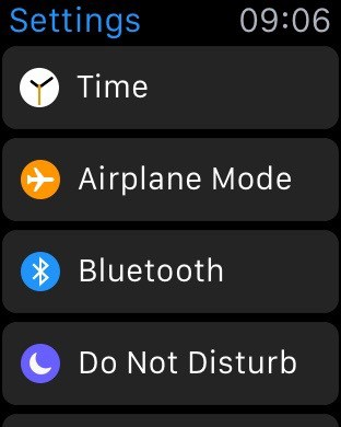 The Settings app.