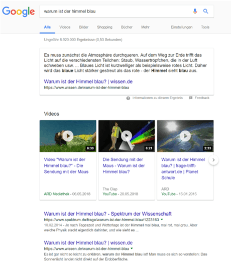 Featured snippet SEO 2019