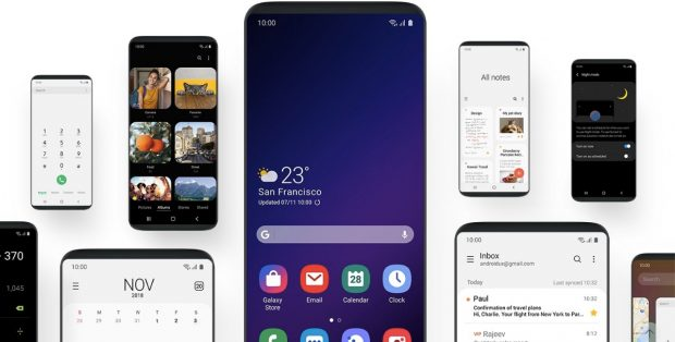 With Android Pie comes Samsung's new user interface One UI. (Screenshot t3n.de Samsung