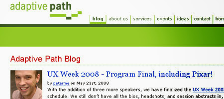 Adaptive Path 's blog offers news and articles on user interface design