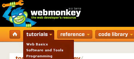 Web Monkey - is a website containing resources for programmers