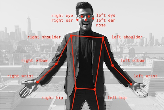 TensorFlow - Real-time Human Pose Estimation in the browser