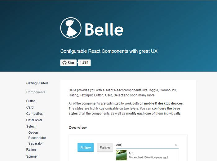 Belle components